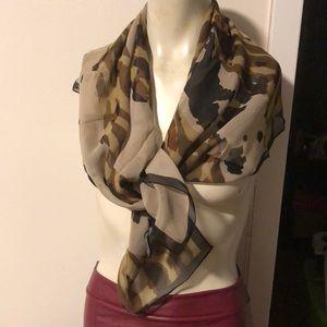 NWOT Silk Camouflage Neck Scarf